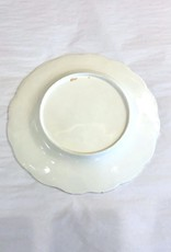 Vintage Grey/White/Gold Floral Plate