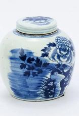B&W Peony Ancestry Jar