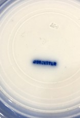 English Flow Blue Plate W/ Gold Rim