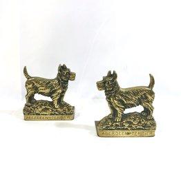 Aberdeen Terrier Brass Bookend Pair