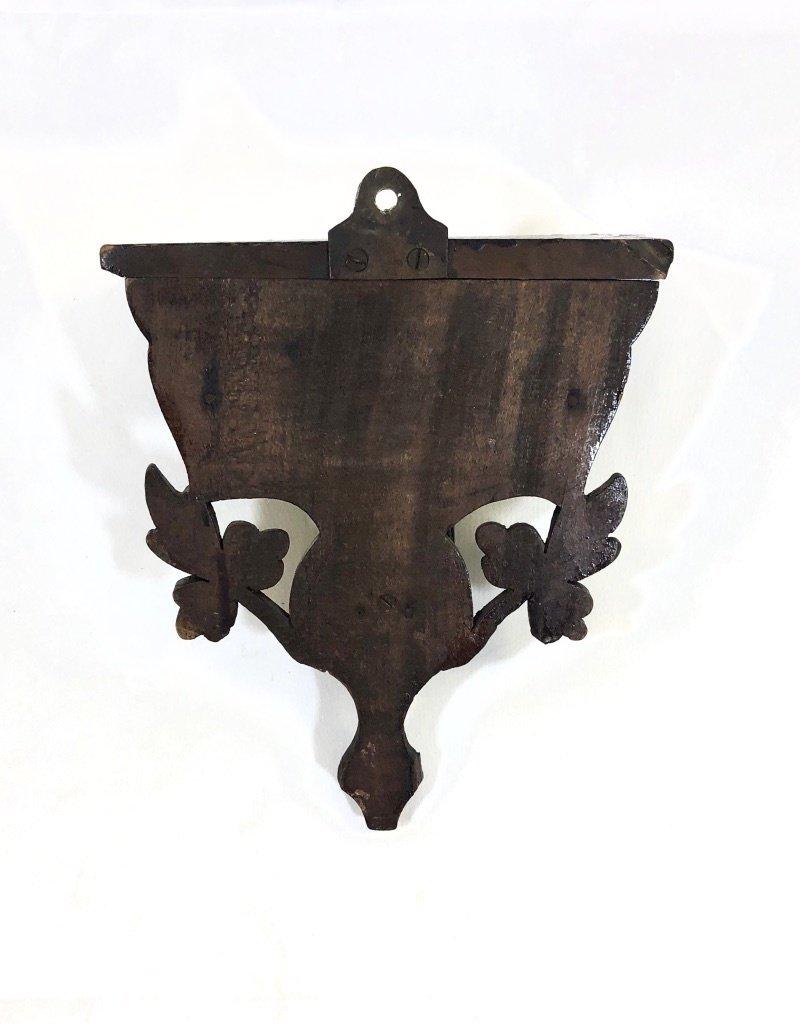 Vintage Petite Black Forest Shelf w/ Deer Head