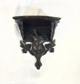 Vintage Petite Black Forest Shelf w/ Deer Head