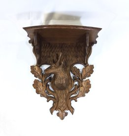 Vintage Black Forrest Shelf:  Deer Head/Oak Leaves