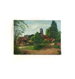 Vintage Signed Oil on Canvas - English Cathedral