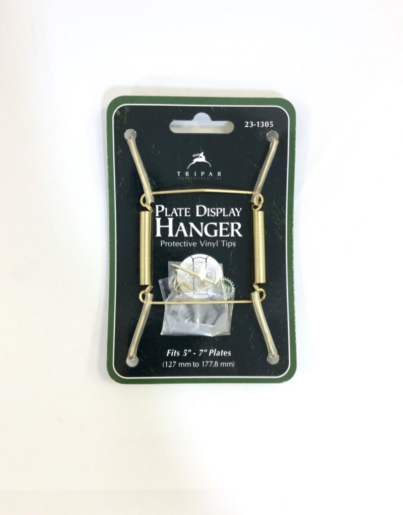 """5""""-7"""" Brass Plate Hanger"""