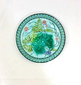 Vintage Majolica Fern Plate