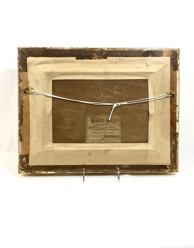 """Vintage Antique Framed Art - """"On The River"""""""