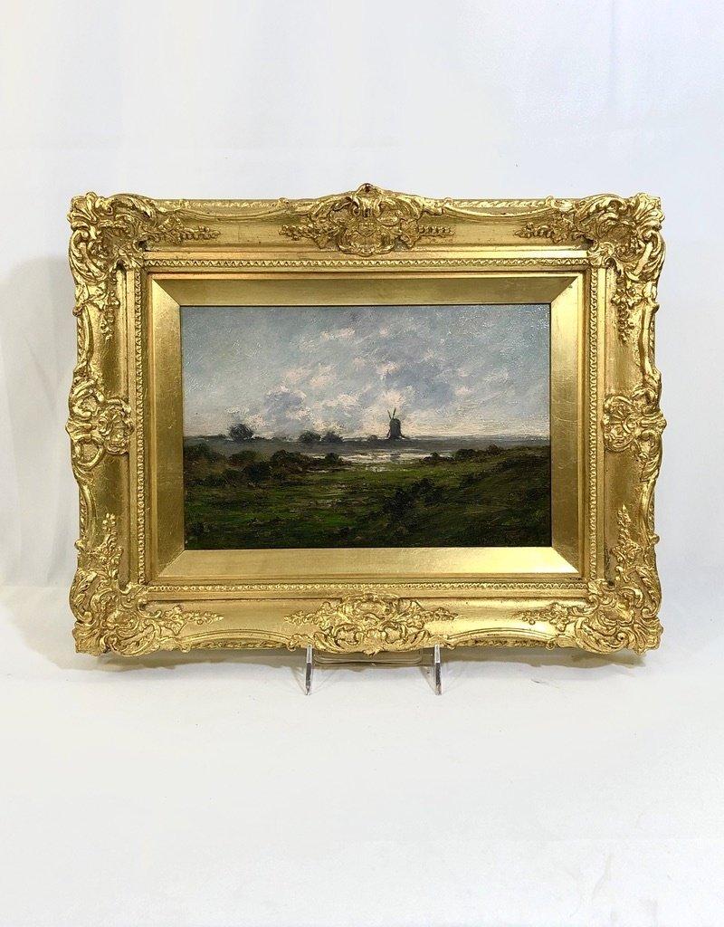 Vintage Antique Framed Art - Dutch Landscape