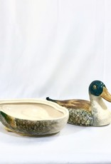 Vintage Antique Covered Dish - Duck