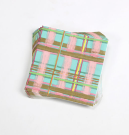 One Hundred 80 Degrees Plaid Luncheon Napkin, 20/PK 6.5""