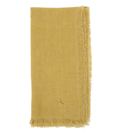 "Linen Napkin 18"" x 18"" - Curry Yellow"