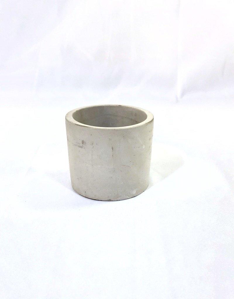 """Concrete Pipe 3"""" Cachepot"""