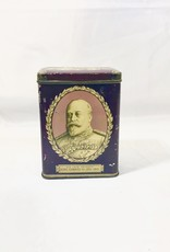 Vintage Purple King Edward VII Tin