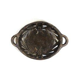 Vintage Black Forest Carved Wooden Platter