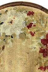 Vintage Vintage Needlepoint Floral Footstool