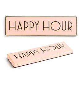 "rosanna ""Happy Hour"" Porcelain Sign"
