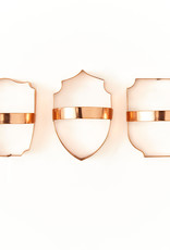 Copper Cookie Cutters (Set of 3) - Shield