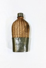 Vintage Antique Wicker Flask - Small