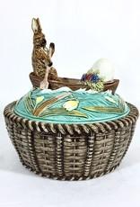 Majolica Majolica Basket w/ Bunny Lid