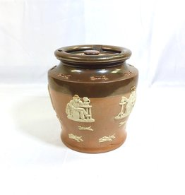Vintage Doulton Glazed Jar with  Lid