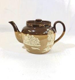Vintage Doulton Glazed Earthenware Teapot w/ Lid