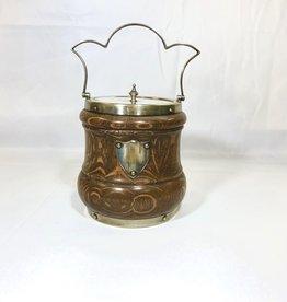 Vintage Eng. Biscuit Barrel-Silver Shield/Scalloped Handle