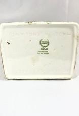 Vintage Biscuit Basket Cottage w/ Woven Handle