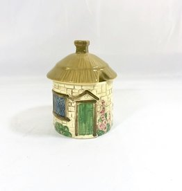 Vintage Cottage Jam Pot w/ Lid