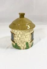 Vintage Cottage Jam Pot w/ Lid