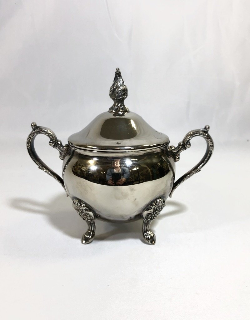Vintage Silver Plated Footed Sugar Bowl