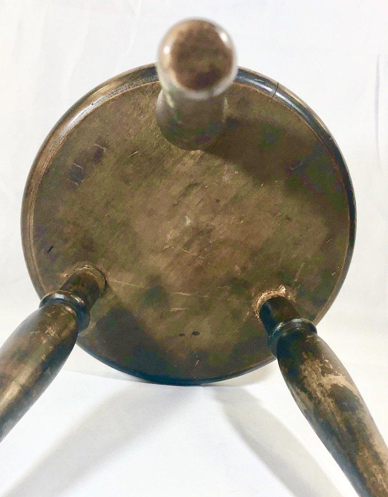 Vintage Petite Carved Wooden Stool
