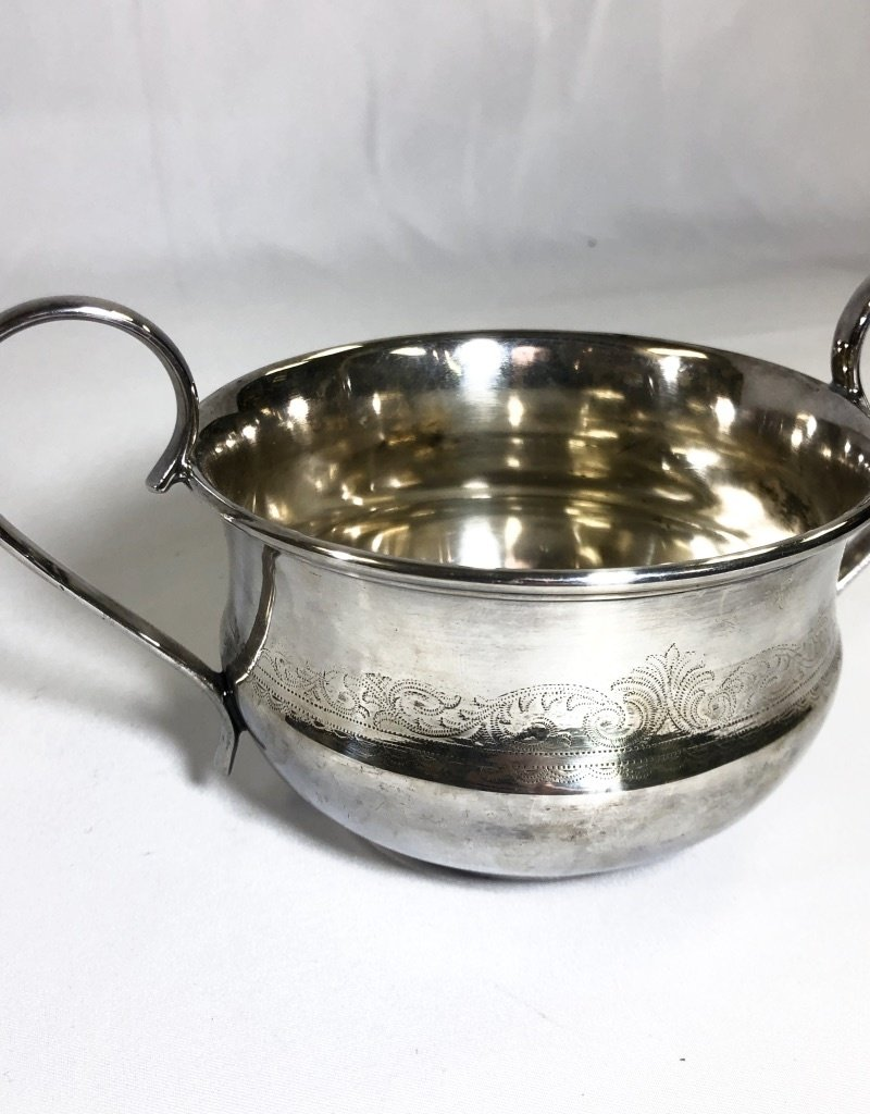 Vintage Silver Plated Etched Bowl