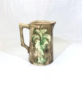 Majolica Palm Tree Majolica Pitcher