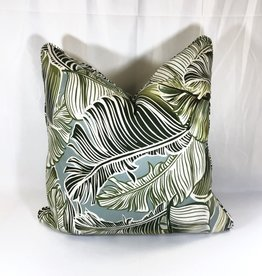 "James & Reid Pillow 23"" x 23"" Jungle Leaf"
