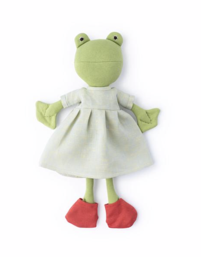Ella Toad in Fog Linen Dress w/ Frog Socks