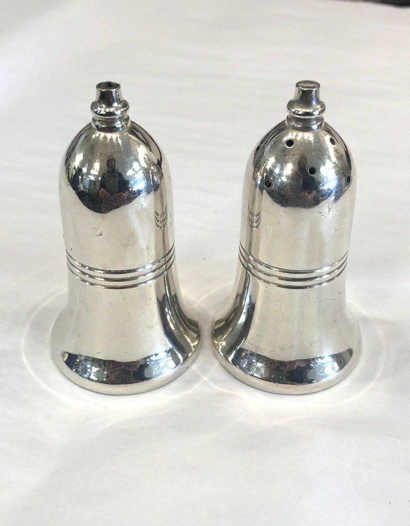 Vintage Pair of Petite Silver Plated Salt & Pepper Shakers