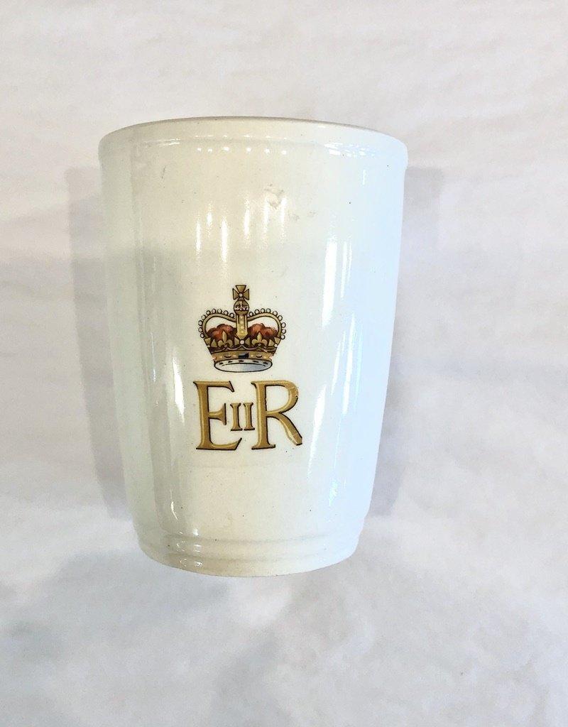 Vintage Queen Elizabeth Coronation Mug - No Handle