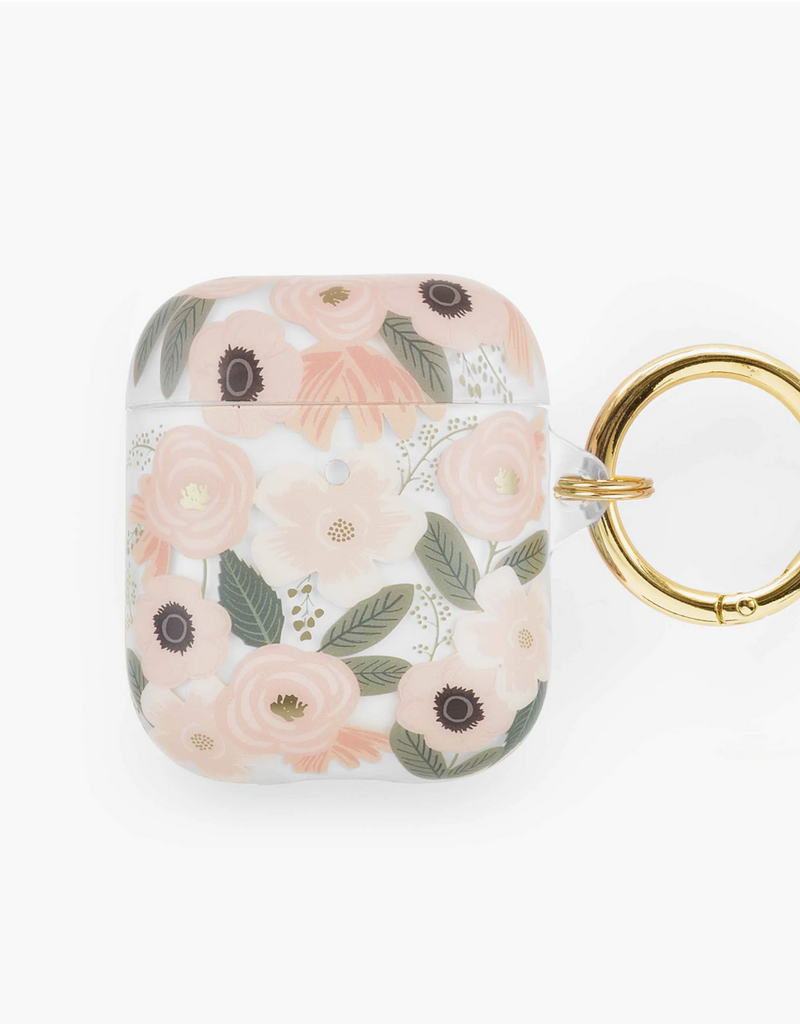 Rifle Paper Co Clear Blush Garden Party AirPod Case
