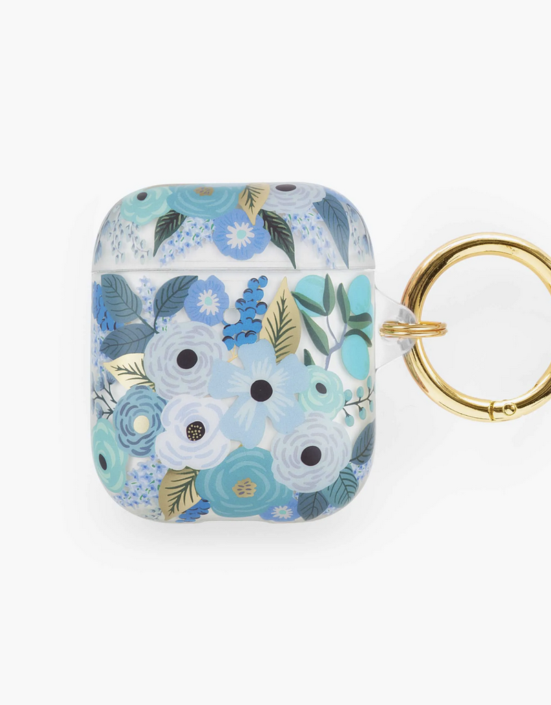 Rifle Paper Co Clear Garden Party Blue AirPod Case