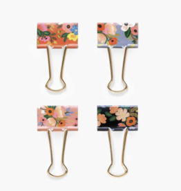 Rifle Paper Co Lively Floral Binder Clips - 8 Count