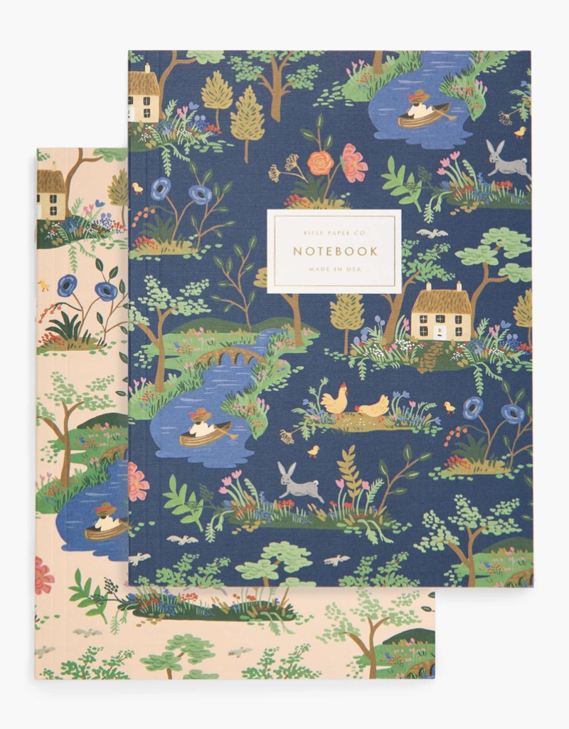 Rifle Paper Co Pair of Two (2) Garden Toile Notebooks