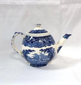 Vintage English Mason's Vista Rounded Teapot