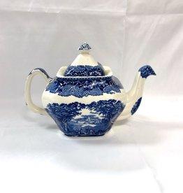 Vintage English Mason's Vista Squared Teapot