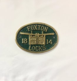 "Vintage Small Green/Gold 1814 ""Foxton Locks"" Medal"