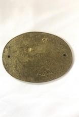 """Vintage Small Green/Gold 1814 """"Foxton Locks"""" Medal"""