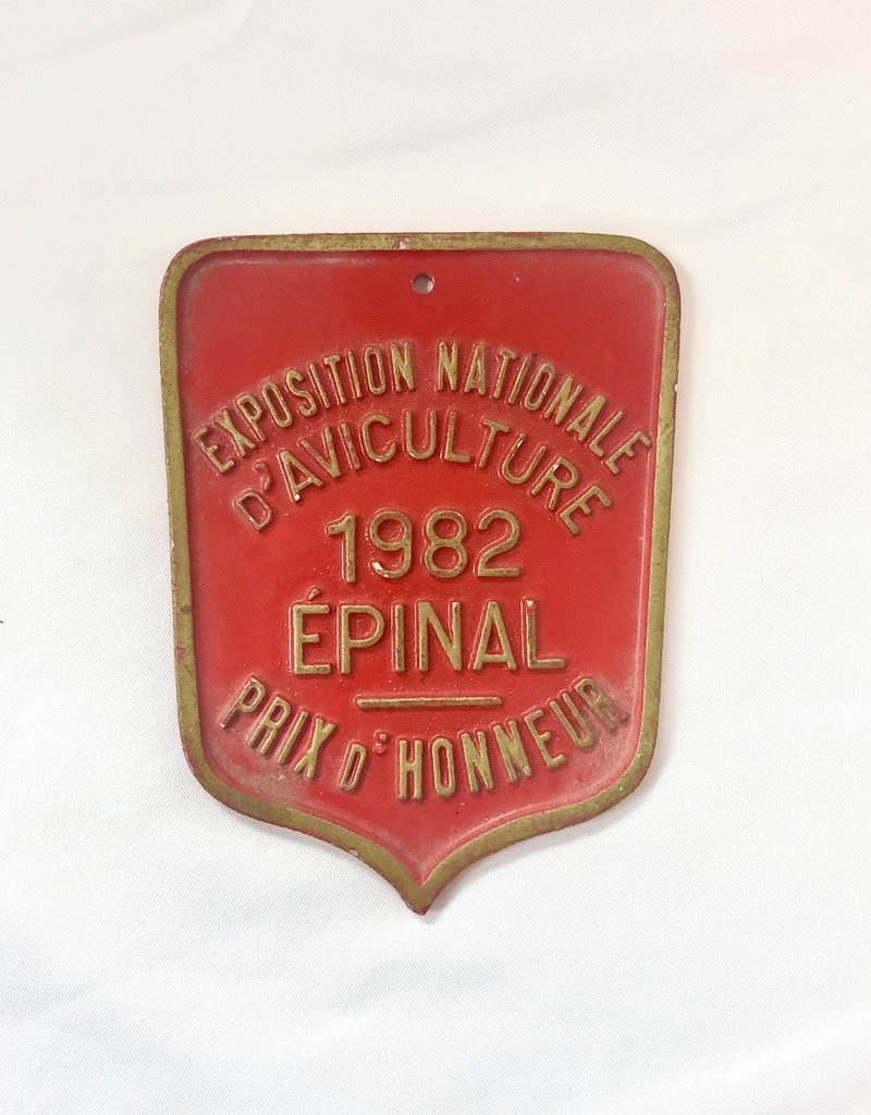 Vintage Small Agricultural Medal - Red Shield, 1982
