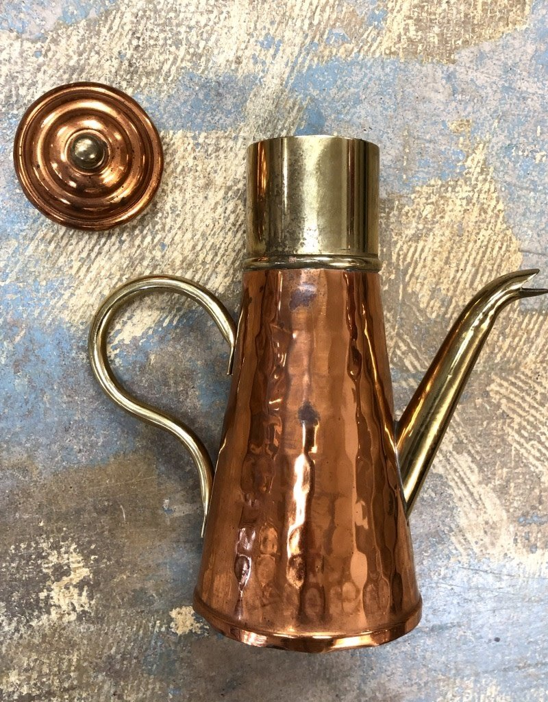 Vintage Belgium Copper Serveware-Coffee/Tea Carafe