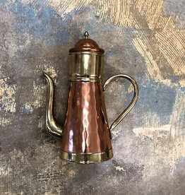 Vintage Belgium Copper Serveware - 3 Part Kettle with Strainer