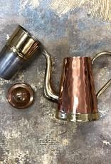 Vintage Belgium Copper Serveware - 3 Part Kettle with Strainer