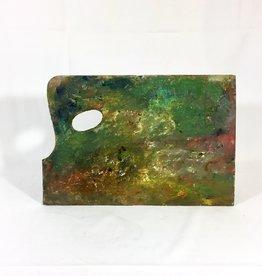 Vintage Painter's Paint Palette - C - Wood